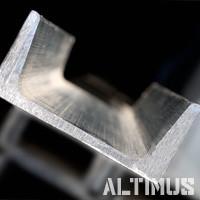 Алюминиевый швеллер, п-образный профиль
