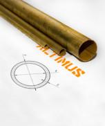 Труба латунная круглая прессованная, холоднотянутая ГОСТ 494-90